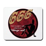 666 Devilish Sign Female Mousepad