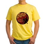 666 Devilish Sign Female Yellow T-Shirt