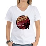 666 Devilish Sign Female Women's V-Neck T-Shirt