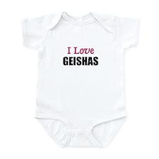 I Love GEISHAS Infant Bodysuit
