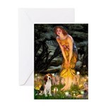 Fairies and Beagle Greeting Card
