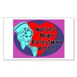 Nurses make Everything better Sticker (Rectangular