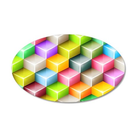 3D Cubes Wall Decal