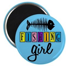 Fishing Girl Magnet