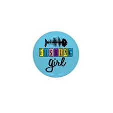 Fishing Girl Mini Button (10 pack)