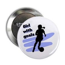 "Girl with goals 2.25"" Button (100 pack)"