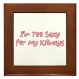 Too Funny Kidneys Framed Tile