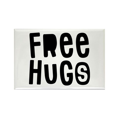 Free Hugs Rectangle Magnet