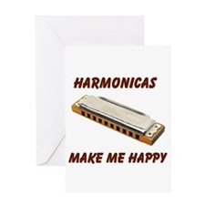 HARMONICAS Greeting Card