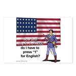 Press 1 for English Postcards (Package of 8)
