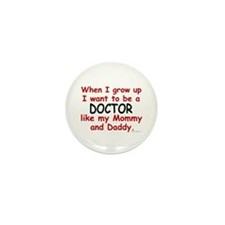 Doctor (Like Mommy & Daddy) Mini Button (100 pack)