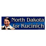 North Dakota for Kucinich bumper sticker