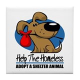 Homeless Pets Tile Coaster