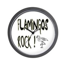 Flamingos Rock ! Wall Clock