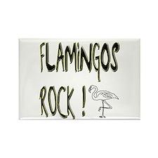 Flamingos Rock ! Rectangle Magnet (10 pack)