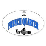 New Orleans Art Oval Decal