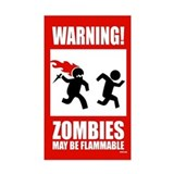warning: zombies Rectangle Decal