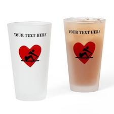 Rowing Heart (Custom) Drinking Glass