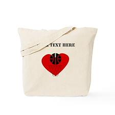 Basketball Heart (Custom) Tote Bag