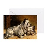 TWO TERRIERS Greeting Cards (Pk of 10)