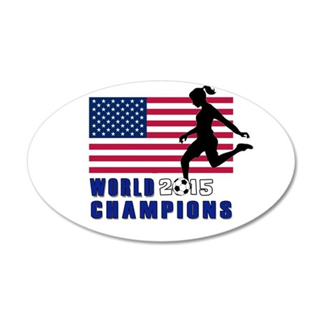 Women's Soccer Champions Wall Decal