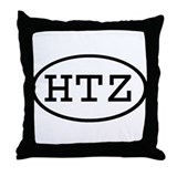 HTZ Oval Throw Pillow