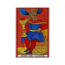 Roy de Coupe Tarot Card Magnet