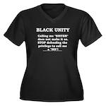 black Unity Women's Plus Size V-Neck Dark T-Shirt