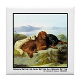 GOLDEN RETRIEVER, IRISH &amp; GORDON Tile Coaster