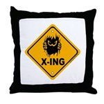 Eek! X-ing Throw Pillow