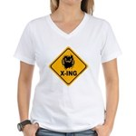 Eek! X-ing Women's V-Neck T-Shirt