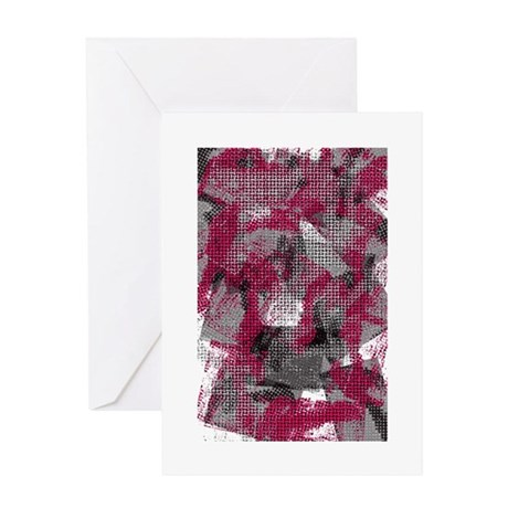 dark weave Greeting Card