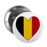 Belgian Flag Heart Button