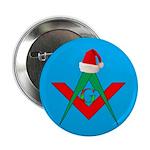 Santa hangs his hat Button