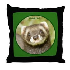 Ferret Gifts Throw Pillow