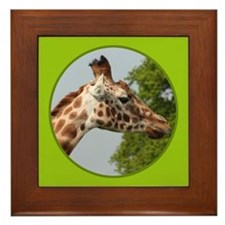 Giraffe Framed Tile