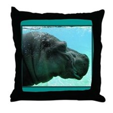 Hippo Gifts Throw Pillow