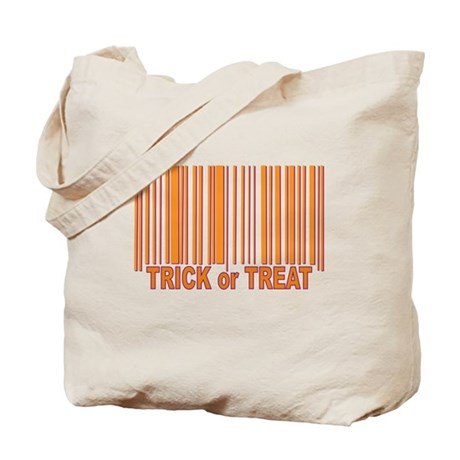 Barcode Trick or Treat Tote Bag