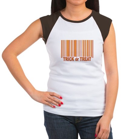 Barcode Trick or Treat Women's Cap Sleeve T-Shirt