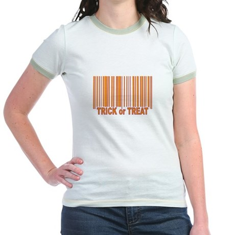 Barcode Trick or Treat Jr. Ringer T-Shirt