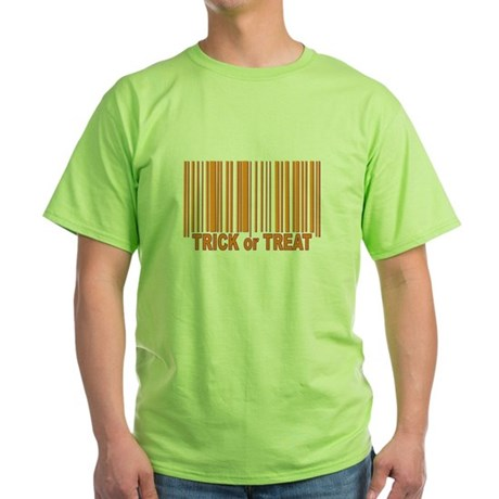 Barcode Trick or Treat Green T-Shirt