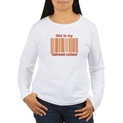 Halloween Costume barcode Women's Long Sleeve T-Sh