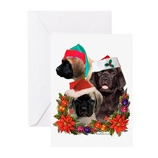 Santa Puppies Greeting Cards (Pk of 10)