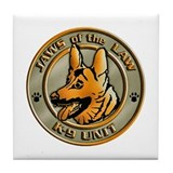 K-9 Unit Logo Tile Coaster