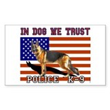 In Dog We Trust Sticker (Rect.)