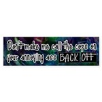 Call Cops on Tailgating Bumper Sticker