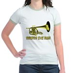 Trumpets Kick Brass Jr. Ringer T-Shirt