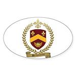 BELHUMEUR Family Crest Oval Sticker
