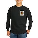 BELHUMEUR Family Crest Long Sleeve Dark T-Shirt