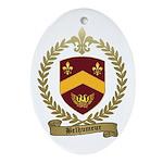 BELHUMEUR Family Crest Oval Ornament